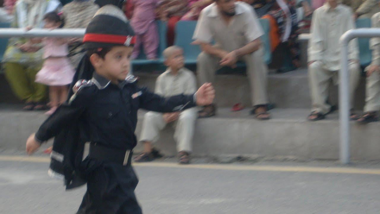Little Kid Part of Military Parade (Pakistan - India)