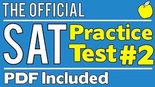 New SAT - Official Test #2 - Math Section 3 - Q1-20