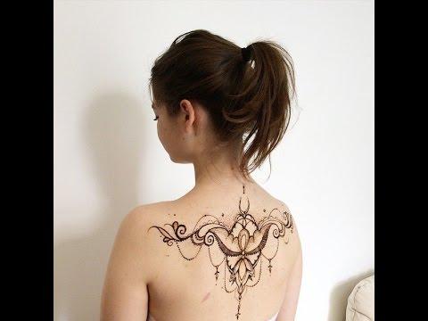 рисунки на спине хной фото