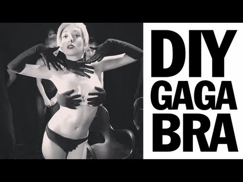 Lady Gaga Glove Bra Tutorial, Applause Video