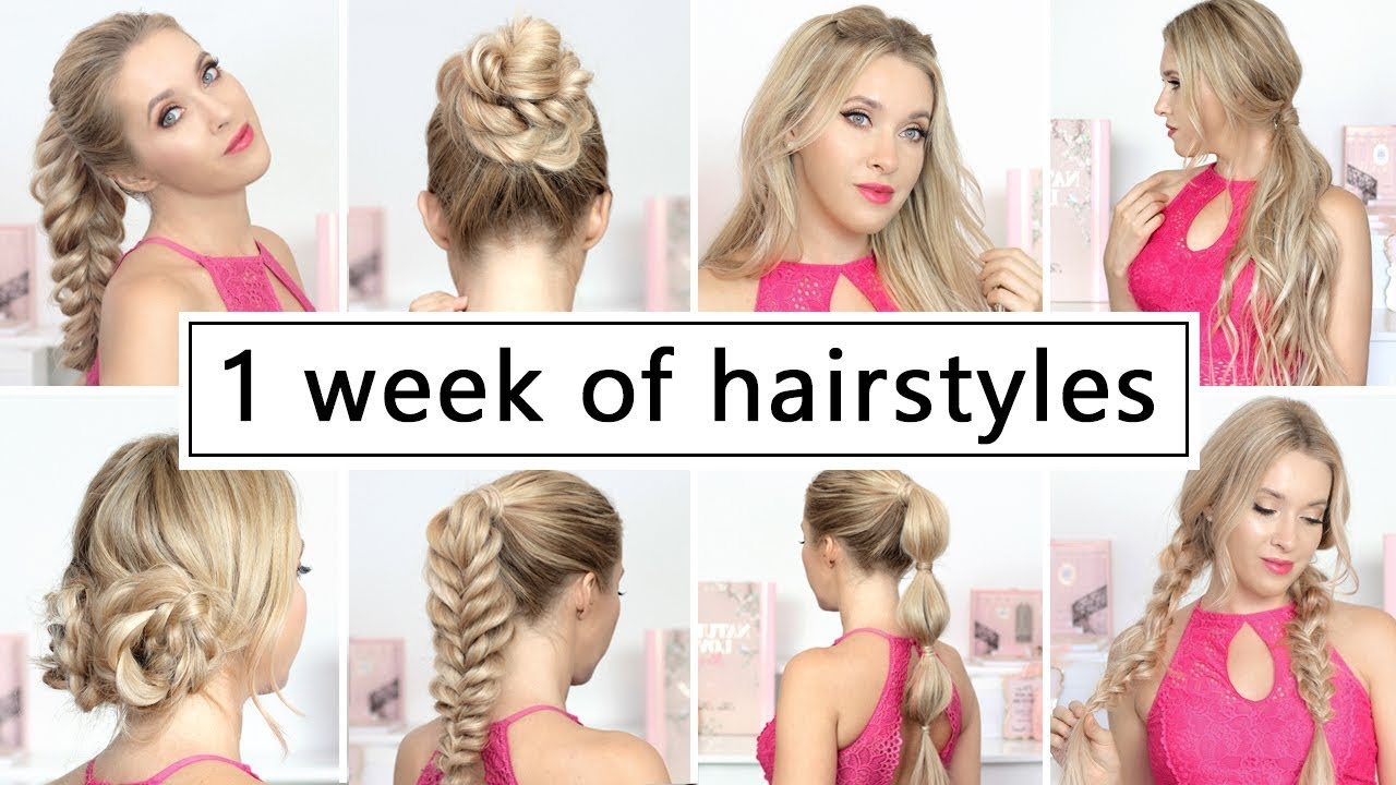 3 WEEK OF HAIRSTYLES for BACK TO SCHOOL, everyday, party ❤ Easy and quick  hair tutorial