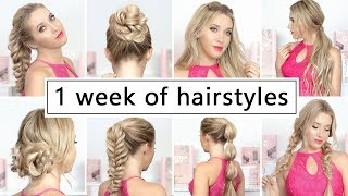 Back to school: 1 WEEK OF HAIRSTYLES ❤ Easy and quick hair tutorial