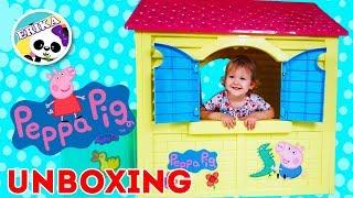 PEPPA PIG HOUSE   UNBOXING   PRETEND PLAY CASA DE PEPPA PIG   Erika Golubeva