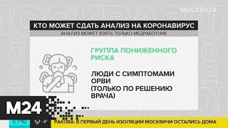 Кому нужно делать тест на коронавирус - Москва 24