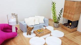 DIY Miniatura Sala de Estar para Casa de Bonecas