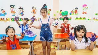 Kids Go To School | Chuns And Friends Learn To Draw Rotation Luck