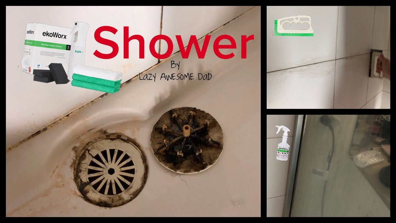 How To Clean Dirty Shower With Toxic And Fume Free EkoWorx KOH   Does It  Work Or Is It A SCAM ?