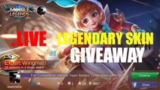 Live Streaming ROAD TO LEGEND!!! & Skin Giveaway! - Mobile Legends