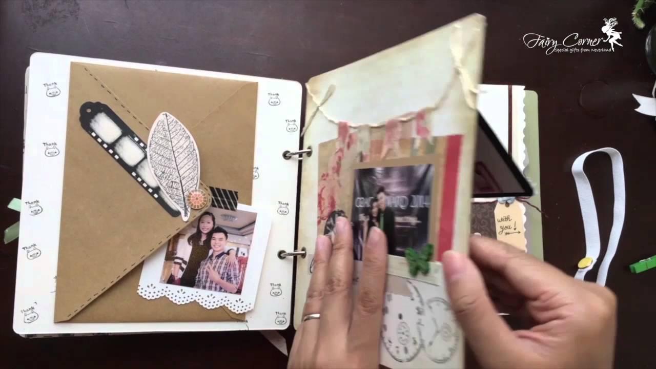 CÁCH LÀM SCRAPBOOK – Trang trí và dán ảnh cho Scrapbook ( The Journey Of Love – Fairy Corner )