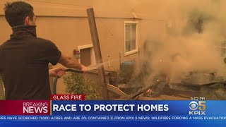 Fire Crews, Residents Make Stand To Save Homes From Destructive Glass Fire