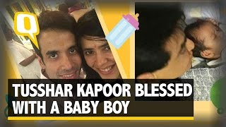 The quint: tusshar kapoor blessed with a baby boy
