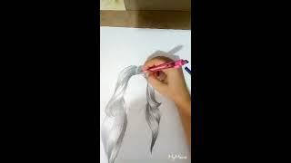 Basit Gerçekçi Saç Çizimi-Hair Drawing