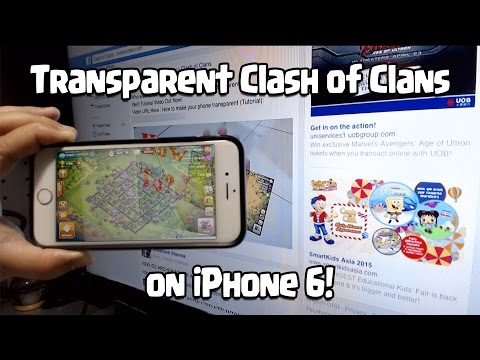 Transparent Clash Of Clans On IPhone 6