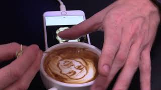 Michael Breach - Bob Marley latte art with a toothpick