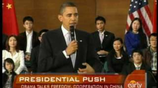 Obama on Freedoms,Twitter in China