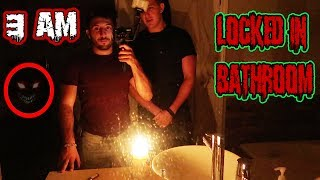 (SHE WAS THERE!) DONT LOCK THE BATHROOM WITH THE LIGHTS OFF AT 3 AM | THIS IS WHY!