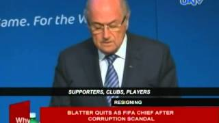 Blatter quits as FIFA chief after corruption scandal
