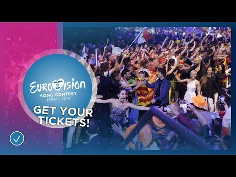 Get your tickets for the 2019 Eurovision Song Contest!