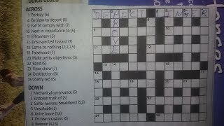 How we play English crossword game ?