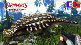 Охотник на динозавров! Поймал Стегозавра и Анкилозавра в игре Carnivores: Dinosaur Hunter Reborn