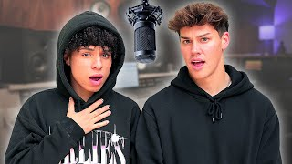 Noah Beck Tries RAPPING a DISS TRACK with Larray | AwesomenessTV