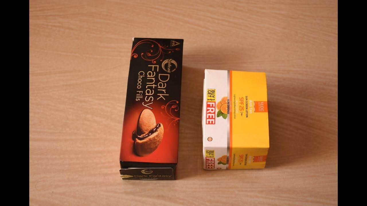 Diy Best Out Of Waste Impty Biscuit Box Dark Fantasy Box Easy Craft