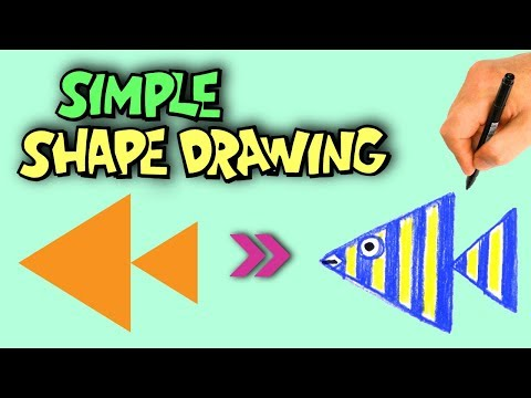 How to Draw Animals #2|Drawing Animals with Shapes|Learn Colors & Shapes for Kids|OKIDOKIDS