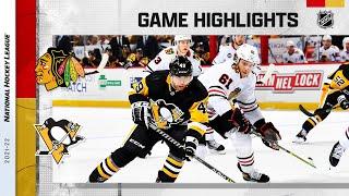 Blackhawks @ Penguins 10/16/21 | NHL Highlights