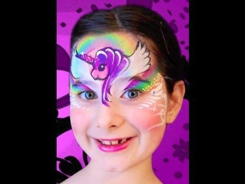 My Little Pony Face Paint Tutorial