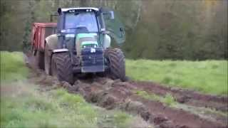 Compilation de tracteur deutz-fahr qui patinent ou embourbes