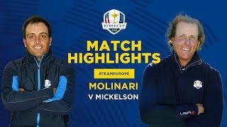 Molinari v Mickelson | Ryder Cup Sunday Singles Highlights