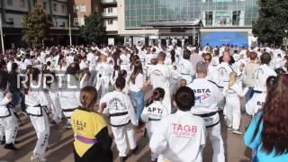 UK: Coventry kicks through Guinness Record with UK's largest Taekwondo display
