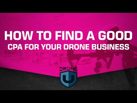 How to find a good CPA for your drone business