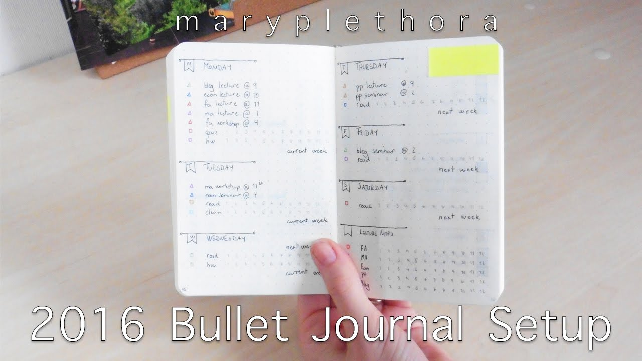 2016 bullet journal setup youtube. Black Bedroom Furniture Sets. Home Design Ideas