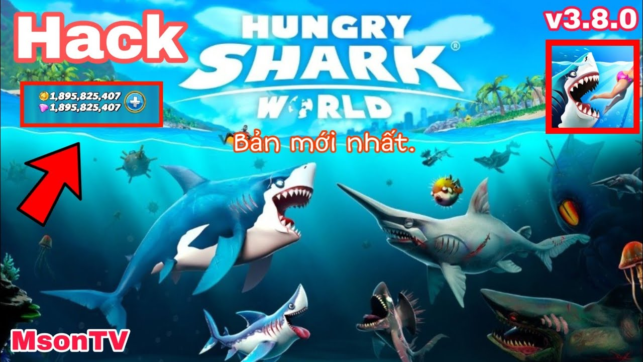 Hack game Hungry Shark World bản mới nhất v3.8.0