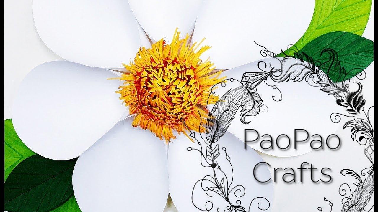 FLOR GIGANTE DE PAPEL | FLORES DE PAPEL | MOLDES GRATIS | HOW TO ...