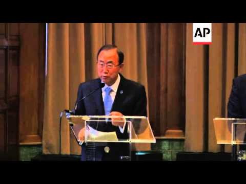 UN Secretary-General Ban Ki-moon's appeals for diplomatic solution in Syria