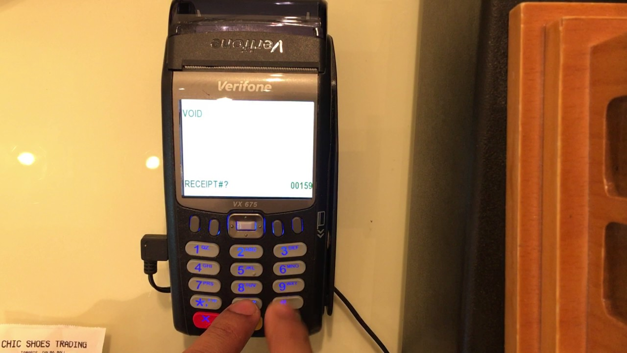 How to Void the Credit Card Transaction in Verifone VX675