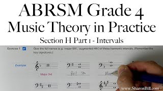 ABRSM Grade 4 Music Theory Section H Part 1 Intervals with Sharon Bill