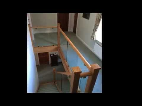 Medlock staircase renovation - staircase refurbishment - oak and glass staircases - staircase ideas