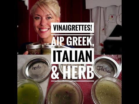 AIP Italian dressing, Greek dressing & Garden Herb dressing