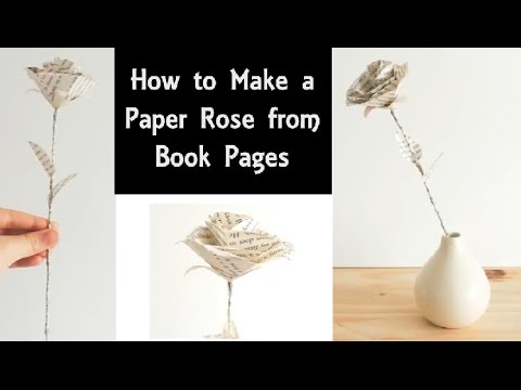 How to Make a Paper Rose from Book Pages | DIY Recycling Project | Home Decor or Wedding Bouquet
