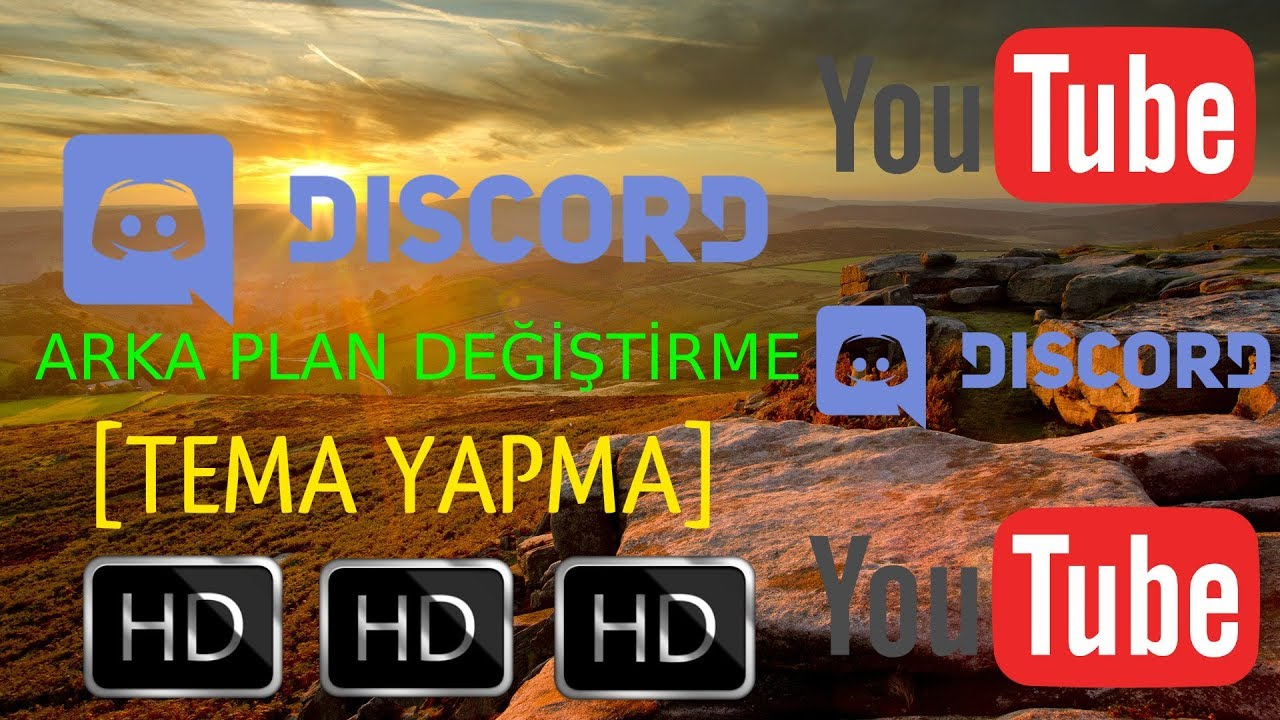 Discord Arka Plan Değiştime Türkçe Tema Yapma 2017 Youtube