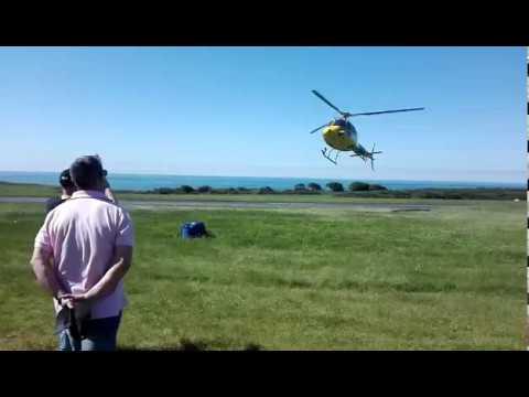 Un helicóptero controla las talas obligatorias en Ribadeo