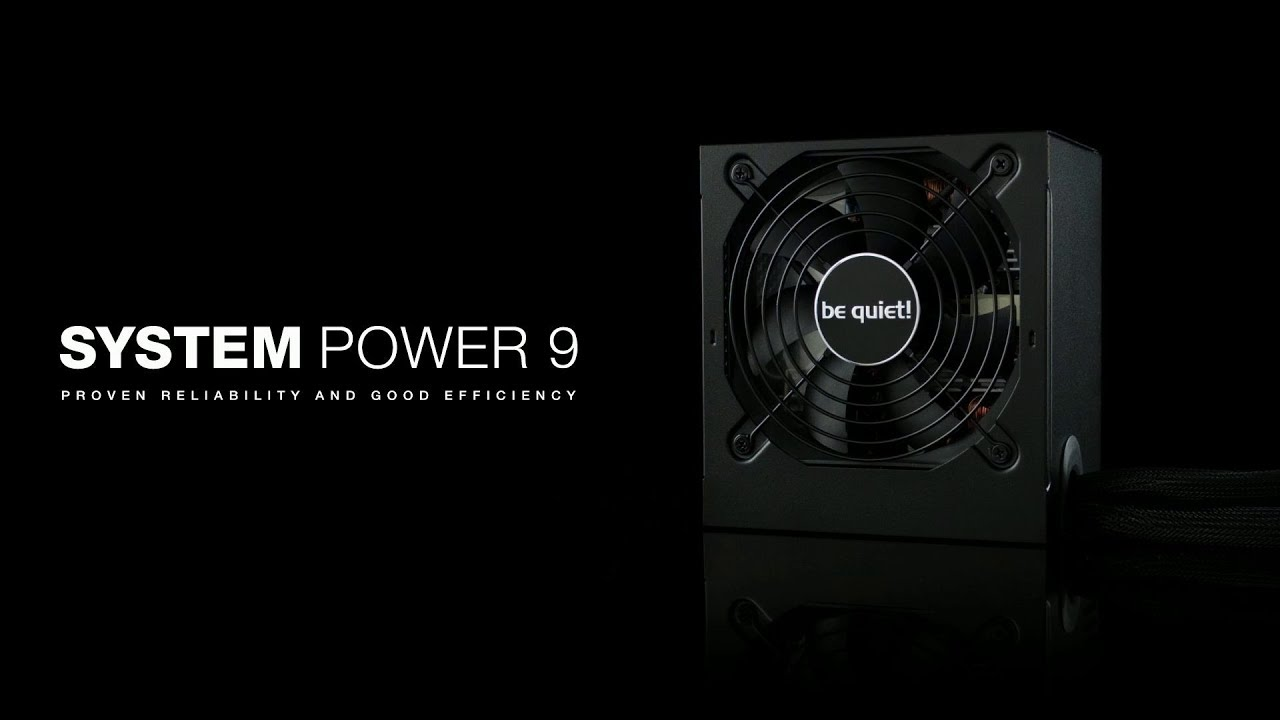 Black BE QUIET 400 W System Power 9 Power Supply Unit
