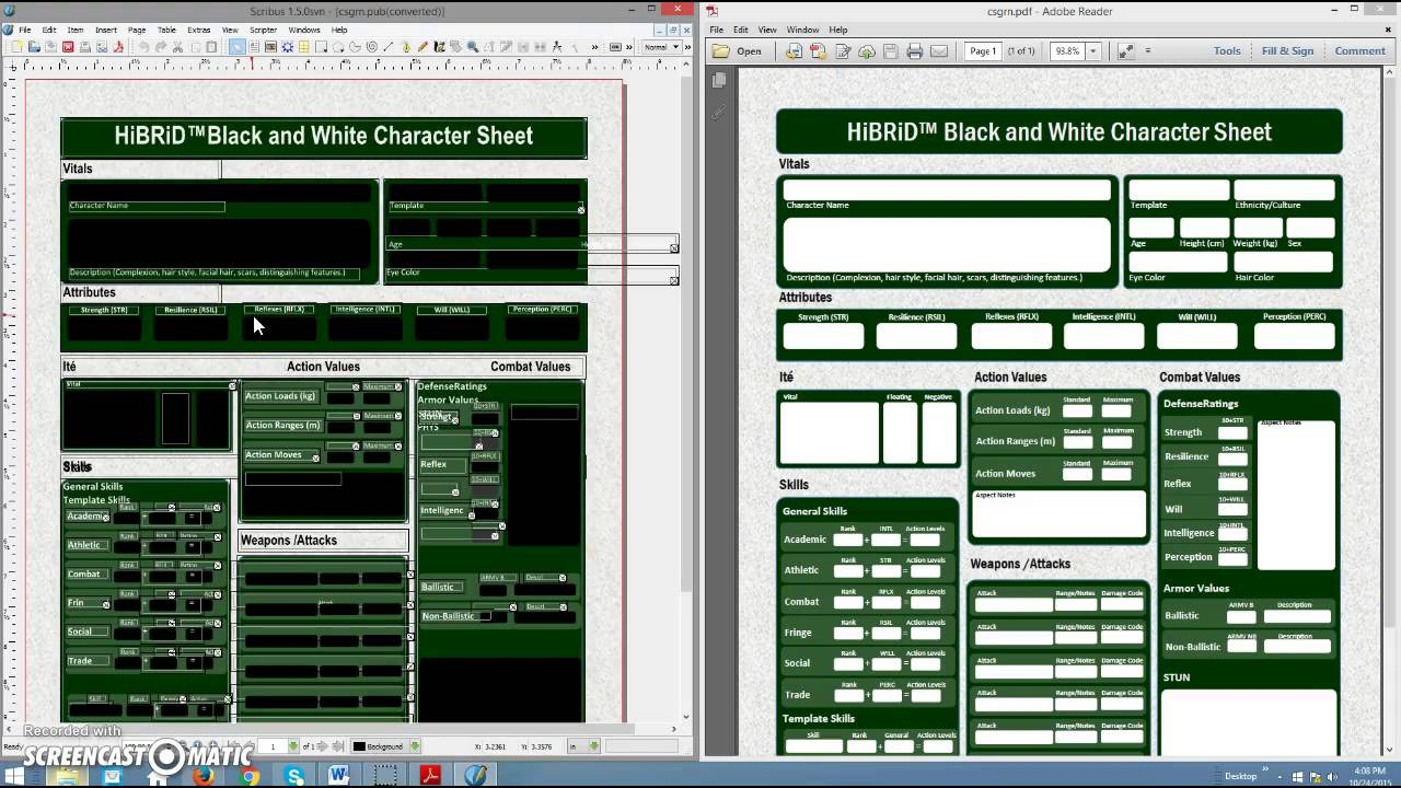 Demo of Conversion of Microsoft Publisher document in Scribus 1.5 ...