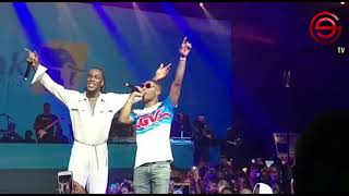 Wizkid Storms Stage To Support Burna Boy at BURNA Live Concert