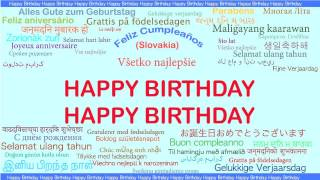 Happy Birthday   Languages Idiomas - Happy Birthday