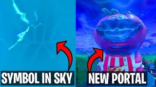 FORTNITE NEW PORTAL IN TOMATO TOWN! SECRET SYMBOLS IN SKY, MOTEL SIGN REMOVED! PORTALS GROWING!