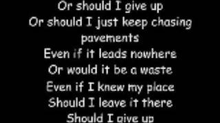 Chasing Pavements w/ Lyrics